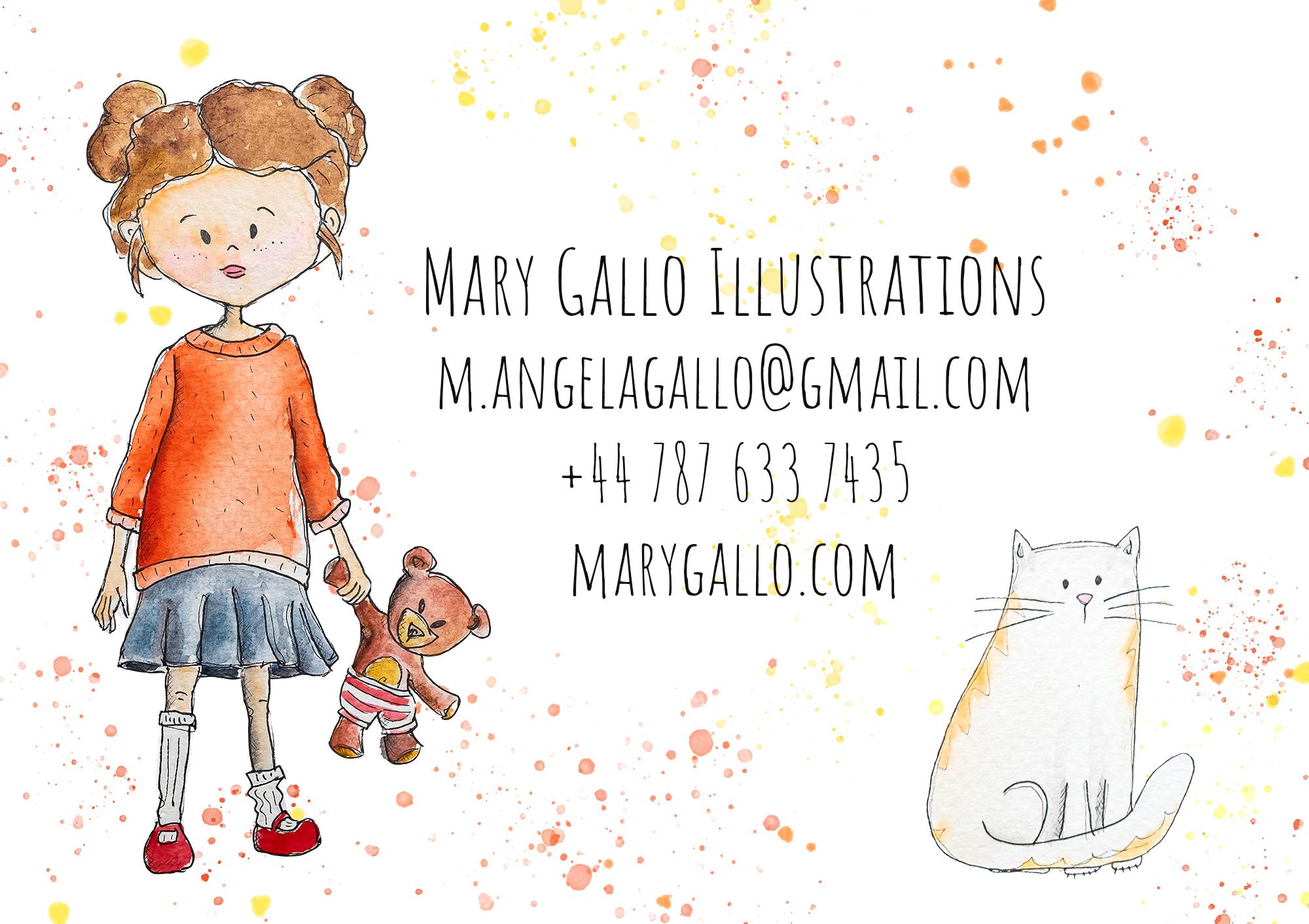 Mary Gallo Watercolour illustrations